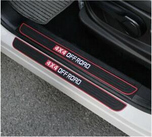 Car Accessories Rubber Door Sill Scuff Plate Protector Sticker Guard Threshold