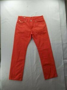"True Religion Joey Super T Womens Peach cotton Pants Size 36 Inseam 34"" Ex Cond!"