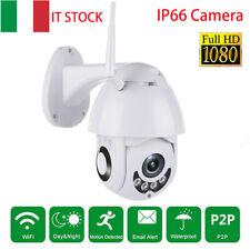2MP TELECAMERA PTZ ZOOM 1080P HD ESTERNA IP CAMERA MOTORIZZATA IR WIFI WEBCAM IT