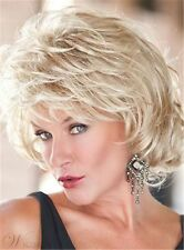 Toni-Brattin Short Fluffy Layered Wavy Synthetic Capless Wigs Blonde