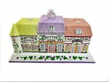 Lenox Victorian Village  Porcelain  Covered Butter Dish Year 1994