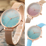Luxury Starry Sky Dial Quartz Women Wrist Watches Charming Rose Gold Case Analog