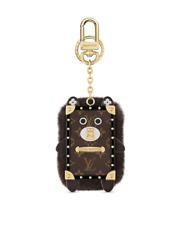 RARE AUTH LOUIS VUITTON WILD FUR EYE TRUNK BAG CHARM KEY RING LTD EDITION M68451