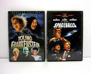 Mel Brooks 2 DVD Lot Young Frankenstein & Spaceballs Comedy Movies Gene Wilder
