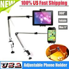 360°Rotating Tablet Stand Holder Lazy Bed Desk Mount Bracket For iPad Phone USA