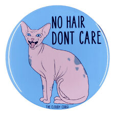 Sphynx Hairless Cat Pin Button Badge Funny Kitty Gifts Collectible Accessories