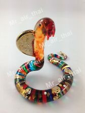 Miniature Snake Glass Blown animals figurine Art glass figurine Dollhouse