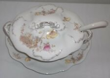 BISHOP AND STONIER PORCELAIN SOUP/VEG. COVERED TUREEN W/LADDLE AND SERVING TRAY