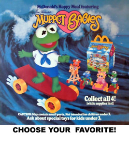 McDonald's 1986 Vintage Muppet Babies Toys-Replacement Pieces-Pick your Favorite