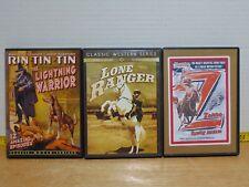 3 Classic Movie Serial DVDs Lone Ranger Zorro Rin-Tin-Tin