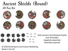 Ancient Shields (Round) Suits Warhammer Age of Sigmar, Kings of War, 28mm, 32mm