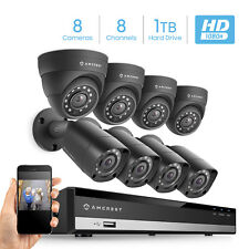 Amcrest Hd 1080-Lite 8Ch Video Security Camera System - Amdvtenl8-4B4D-B-Hdd