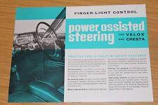 Vauxhall Velox & Cresta Power Assisted Steering Sheet 1965