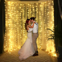300 LED String Lights Fairy Curtain Light Indoor Outdoor Wedding Xmas Party Deco