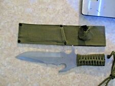 "5.5"" Blade Defender Xtreme Silver Combat Ready Hunting Knife With Sheath"