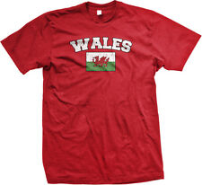 Wales Country Long Live Wales United Kingdom Cardiff Welsh Mens T-shirt