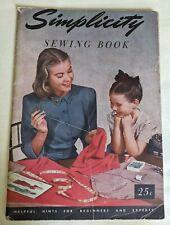 Vintage Simplicity Sewing Book, 1949