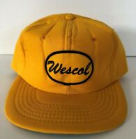 Vintage Hat Wescol Trucker Foam Youngan Baseball Cap Snapback Yellow Embroidered