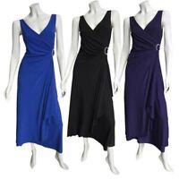 New Ladies Eversun Stretch Long Evening Dress Smart Various Colours Size 10-20
