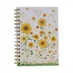 Colourful Sunflower Garden A5 Lined Spiral Hardback Notebook Stationery 21x15cm