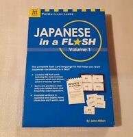 Learn Japanese In A Flash Tuttle 448 Flash Cards By John Millen 2007