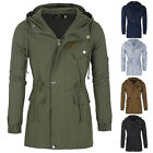 MILITARY Winter Hooded Mens Long Trench Cotton Coat Casual Jacket Parka Overcoat