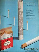 PUBLICITÉ DE PRESSE 1962 CIGARETTES CRAVEN A VIRGINIA - TABAC