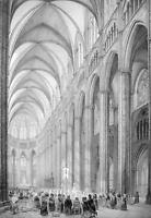 ARCHITECTURE PRINT : France Interior of Bourges Cathedral