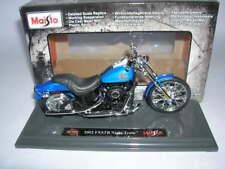 Maisto Harley-Davidson 2002 FXSTB Tren De Noche Azul Metálico, 1:18 MOTO