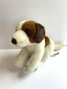 "Animal Alley RARE Bernard Dog Beagle Patch Plush 14"" White & Brown Toys R Us"