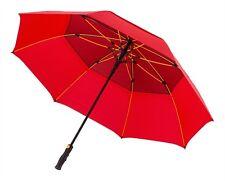 Large Premium Golf Umbrella Automatic Windproof Wind Vented Canopy - Storm Black