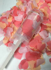 Coral Confetti Push Pop Biodegradable Peach Pink Wedding Cannons Eco Friendly