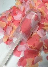 Corail Confettis Appui Pop Biodégradable Pêche Rose Mariage Canons Écologique