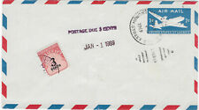 Airmail stationery 1969 postage due cover NY