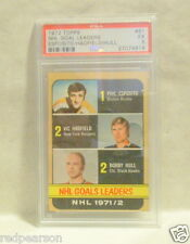 ESPOSITO HULL HADFIELD 1972 1973 72 73 TOPPS HOCKEY CARD PSA 61 GOAL LEADERS