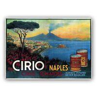 "TARGA VINTAGE ""Cirio Naples. Manifesto pubblicitario del 193. ADVERTISING POSTER"