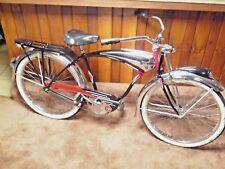 "Vintage 1953 SCHWINN  BLACK PHANTOM Bicycle -Antique Baloon Tire Bike 26"""