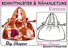 """Tasche """"Big Shopper"""" pdf.Schnittmuster und Nähanleitung"""