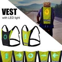 Fahrrad LED Wireless Sicherheit Blinker Licht Weste Nacht Reiten Fernbedienung
