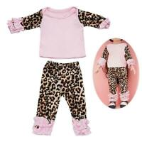 Girl Doll Lovely Leopard PJs Pajama Set For 18-inch T1Y5 Dolls P7P7