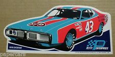 Richard Petty 1976 Dodge Charger STP NASCAR racing car shop Sticker Decal NEW