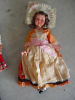 Large Vintage 1930s Celluloid Ethnic Girl Doll LOOK