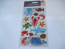 Scrapbooking Stickers Sticko Sea Life Fun Octopus Lobster Whale Shark More