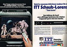 PUBLICITE  1977   ITT SCHAUB-LORENZ   téléviseur  ( 2 pages)