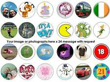 24 your own image picture bun fairy cupcake toppers birthdays party edible paper