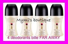 Lot de 4 déodorants à bille parfumés FAR AWAY d'Avon - déos neufs!