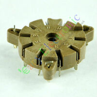 8pc 9pin Bakelite vacuum tube socket valve base Chassis 12AX7B 12AU7B 6DJ8 audio
