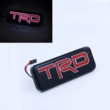 TRD LED Light Emblem Car Front Grille Badge For Toyota Camry Corolla Yaris Decal