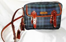 VinTage Never Used Ralph Lauren Coated Canvas & Leather Bag Brush Fob Blackwatch