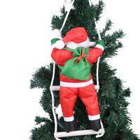Climbing Santa Claus Toy Christmas Tree In/Outdoor Hanging Ornament Home Decor